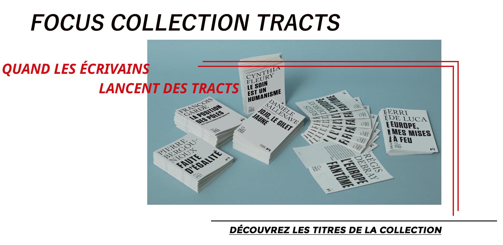 Découvrez la Collection Tracts des éditions Gallimard